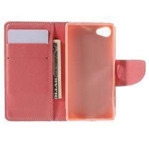 Wally Peňaženkové puzdro pre Sony Xperia Z5 Compact - srdce - 6