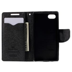 Fancy PU kožené puzdro pre Sony Xperia Z5 Compact - čierne - 6