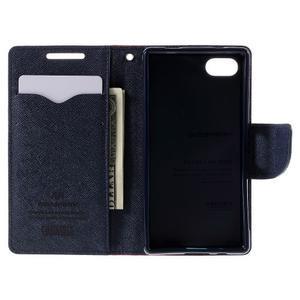 Fancy PU kožené puzdro pre Sony Xperia Z5 Compact - červené - 6