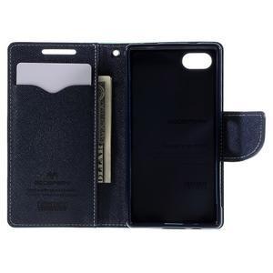 Fancy PU kožené puzdro pre Sony Xperia Z5 Compact - cyan - 6