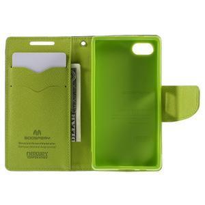 Fancy PU kožené puzdro pre Sony Xperia Z5 Compact - tmavomodré - 6