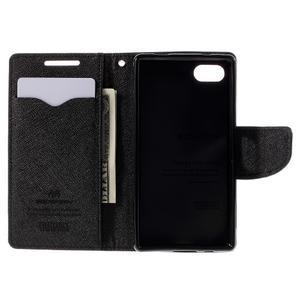 Fancy PU kožené puzdro pre Sony Xperia Z5 Compact - hnedé - 6