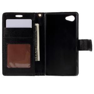 Croco Peňaženkové puzdro pre Sony Xperia Z5 Compact - čierne - 6