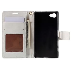 Croco Peňaženkové puzdro pre Sony Xperia Z5 Compact - biele - 6
