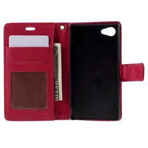 Croco peněženkové pouzdro na Sony Xperia Z5 Compact - červené - 6