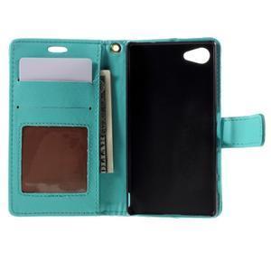 Croco peněženkové pouzdro na Sony Xperia Z5 Compact - modré - 6