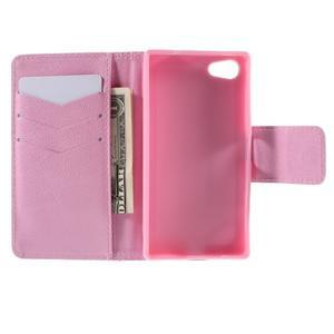 Diary peněženkové pouzdro na Sony Xperia Z5 Compact - květoucí větvička - 6