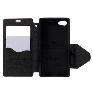 Puzdro s okienkom na Sony Xperia Z5 Compact - čierne - 6