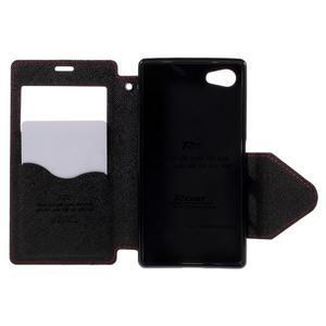 Puzdro s okienkom na Sony Xperia Z5 Compact - červené - 6