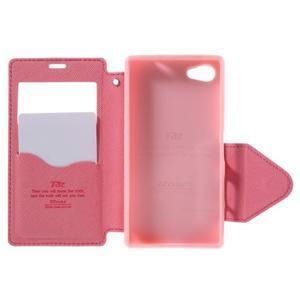 Puzdro s okýnkem na Sony Xperia Z5 Compact - rose - 6