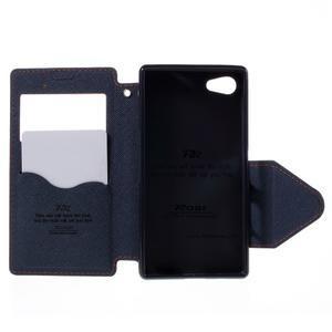 Puzdro s okienkom na Sony Xperia Z5 Compact - oranžové - 6