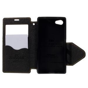 Puzdro s okienkom na Sony Xperia Z5 Compact - žlté - 6