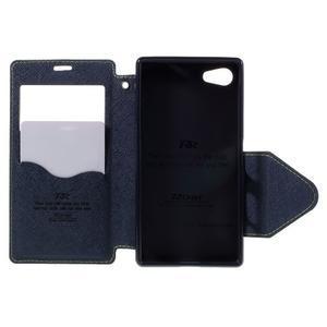 Puzdro s okienkom na Sony Xperia Z5 Compact - zelené - 6