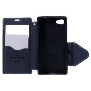Puzdro s okienkom na Sony Xperia Z5 Compact - svetlomodré - 6