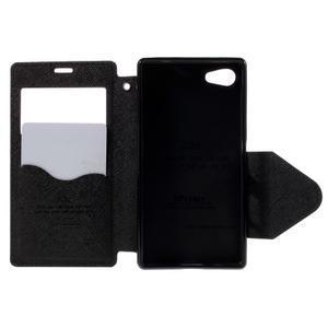 Puzdro s okýnkem na Sony Xperia Z5 Compact - tmavěmodré - 6