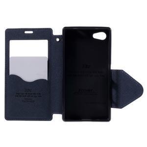 Puzdro s okienkom na Sony Xperia Z5 Compact - fialové - 6