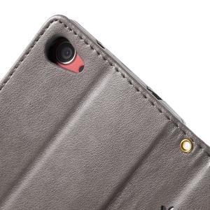 Butterfly Peňaženkové puzdro pre Sony Xperia Z5 Compact - sivé - 6