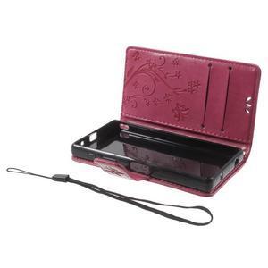 Butterfly Peňaženkové puzdro pre Sony Xperia Z5 Compact - rose - 6