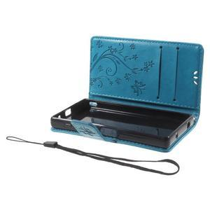 Butterfly peněženkové pouzdro na Sony Xperia Z5 Compact - modré - 6