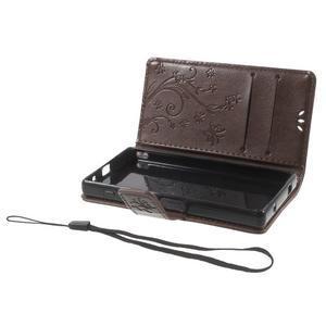 Butterfly Peňaženkové puzdro pre Sony Xperia Z5 Compact - coffee - 6