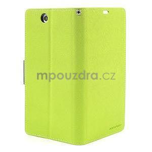 Peňaženkové PU kožené puzdro pre Sony Z Ultra - zelené - 6