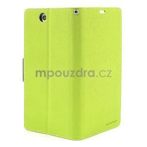 Peněženkové PU kožené pouzdro na Sony Z Ultra - zelené - 6