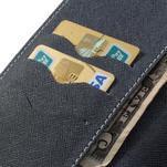 Peněženkové PU kožené pouzdro na Sony Z Ultra - azurové - 6/7