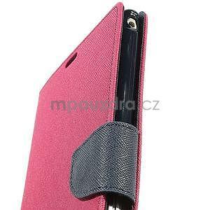 Peňaženkové PU kožené puzdro pre Sony Z Ultra - rose - 6