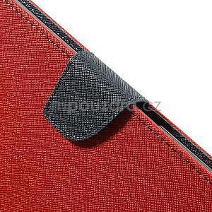 Peněženkové PU kožené pouzdro na Sony Z Ultra - červené - 6