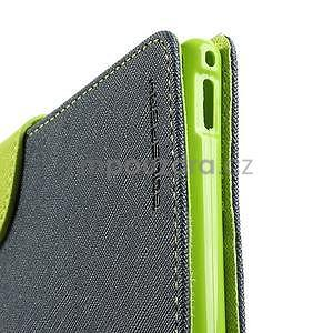 Peňaženkové PU kožené puzdro pre Sony Z Ultra - tmavomodré - 6