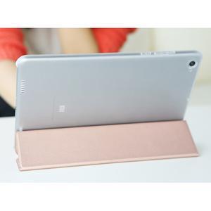Trifold polohovateľné puzdro pre tablet Xiaomi Mi Pad 2 - zlatoružové - 6