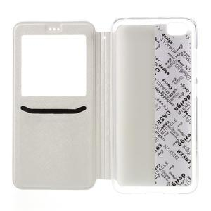 Cross peňaženkové puzdro s oknem na Xiaomi Mi5 - biele - 6