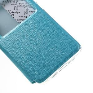 Cross peňaženkové puzdro s oknem na Xiaomi Mi5 - svetlomodré - 6