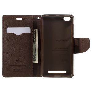 Diary PU kožené puzdro pre mobil Xiaomi Redmi 3 - čierne/hnedé - 6