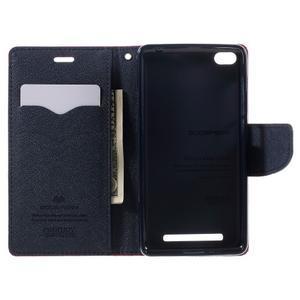 Diary PU kožené puzdro pre mobil Xiaomi Redmi 3 - rose - 6