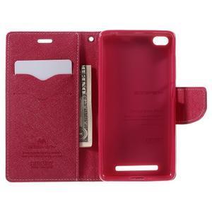 Diary PU kožené pouzdro na mobil Xiaomi Redmi 3 - růžové - 6