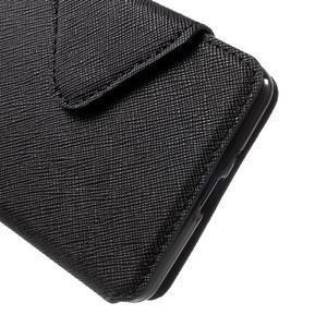 Diary view peňaženkové puzdro pre Xiaomi Redmi 3 - čierne - 6