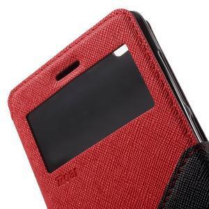 Diary view peňaženkové puzdro pre Xiaomi Redmi 3 - červené - 6