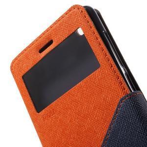Diary view peňaženkové puzdro pre Xiaomi Redmi 3 - oranžové - 6