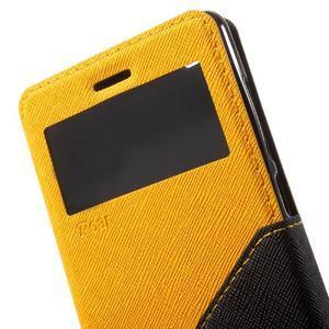 Diary view peněženkové pouzdro na Xiaomi Redmi 3 - žluté - 6