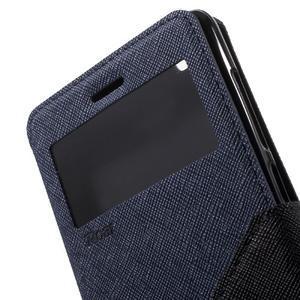 Diary view peňaženkové puzdro pre Xiaomi Redmi 3 - tmavomodré - 6
