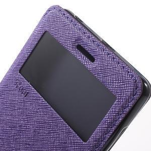 Diary view peněženkové pouzdro na Xiaomi Redmi 3 - fialové - 6