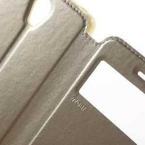 View PU kožené pouzdro s okýnkem na Xiaomi Redmi Note 2 - zlaté - 6