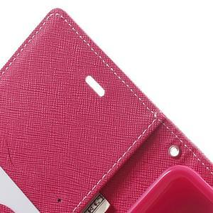 Goos PU kožené puzdro pre Xiaomi Redmi Note 2 - ružové - 6