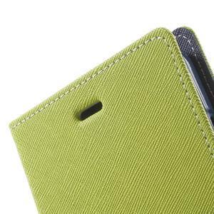 Goos PU kožené puzdro pre Xiaomi Redmi Note 2 - zelené - 6