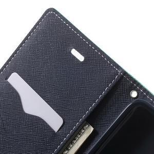 Goos PU kožené pouzdro na Xiaomi Redmi Note 2 - azurové - 6