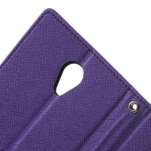 Goos PU kožené puzdro pre Xiaomi Redmi Note 2 - fialové - 6