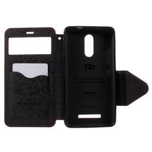 Diary pouzdro s okýnkem na mobil Xiaomi Redmi Note 3  - červené - 6