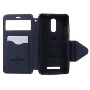 Diary pouzdro s okýnkem na mobil Xiaomi Redmi Note 3  - oranžové - 6
