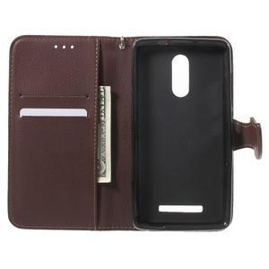 Leaf peněženkové pouzdro na Xiaomi Redmi Note 3 - hnědé - 6